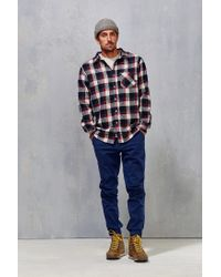 Poler | Red Flannel Button-down Shirt for Men | Lyst