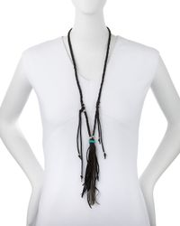 Johnny Was | Black Delia Long Necklace W/ Tassel | Lyst