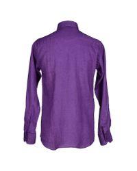 Ermenegildo Zegna - Purple Shirt for Men - Lyst