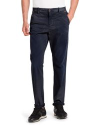 BOSS Orange - Blue Regular-Fit Trousers 'Sandrew-D' for Men - Lyst
