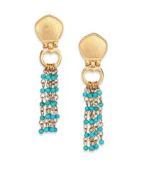 Stephanie Kantis | Blue Cleo Turquoise Beaded Tassel Earrings | Lyst