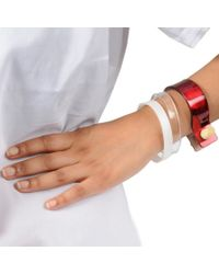 Cooee | Multicolor Clear Thin Cuff | Lyst