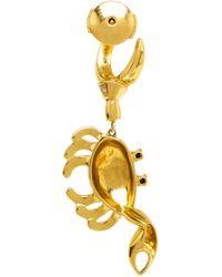 Yvonne Léon   Metallic 18kt Gold Crab Earring   Lyst