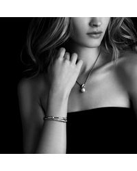 David Yurman | Metallic Crossover Bracelet With Diamonds In 18k Gold And 18k White Gold | Lyst