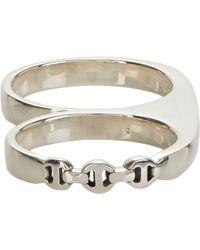 Hoorsenbuhs   Metallic Sterling Silver Double-finger Knuckle Ring for Men   Lyst