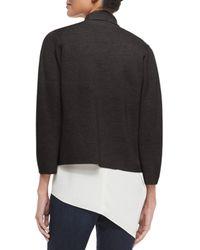 Eileen Fisher - Blue Interlock Boxy Short Jacket - Lyst