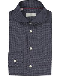 Eton of Sweden | Blue Slim Fit Micro-dots Cotton Shirt for Men | Lyst