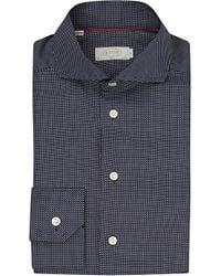 Eton of Sweden - Blue Slim Fit Micro-dots Cotton Shirt for Men - Lyst