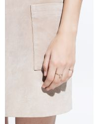 Mango | Metallic Crystal Rings Set | Lyst