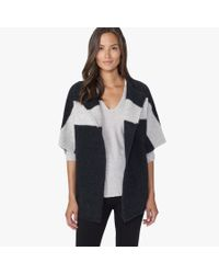 James Perse - Gray Wool Blend Stripe Cardigan - Lyst