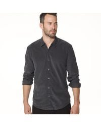 James Perse | Black Standard Fine Cord Shirt for Men | Lyst