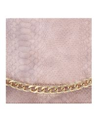Carvela Kurt Geiger - Natural Evie Snake Chain Clutch - Lyst