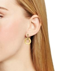 kate spade new york | Metallic Double Hoop Drop Earrings - Bloomingdale's Exclusive | Lyst