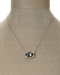 Swarovski - Black Silver-Tone Accented Pendant Necklace - Lyst