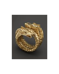 John Hardy - Yellow Naga 18k Gold Coil Ring - Lyst