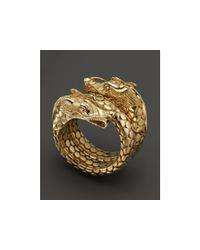 John Hardy | Metallic Naga 18k Gold Coil Ring | Lyst