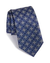 Brioni - Blue Medallion Silk Tie for Men - Lyst