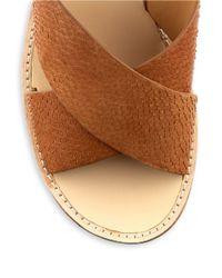 Belle By Sigerson Morrison   Brown Malmas Leather Platform Sandals   Lyst