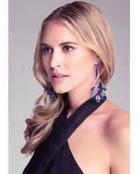 Bebe - Blue Teardrop Statement Earrings - Lyst