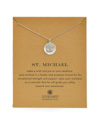 Dogeared | Metallic St. Michael Pendant Necklace | Lyst