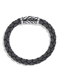 David Yurman - Metallic Chevron Bracelet In Gray for Men - Lyst