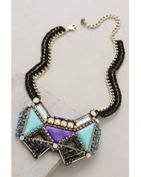 Nocturne | Purple Tetherwing Bib Necklace | Lyst