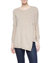 INHABIT | Natural Long-sleeve 12-gauge Cashmere Pullover | Lyst