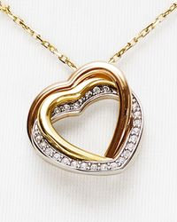 Michael Kors - Metallic Tritone Heart Pendant Necklace 16 - Lyst