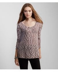 Aéropostale | Red Long Sleeve Marled Crew Top | Lyst