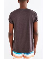 BDG - Gray Rolled Cap Sleeve Standard-fit Tee for Men - Lyst