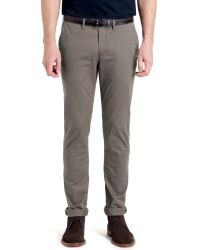 Ted Baker | Gray T For Tall Norfolk Slim Fit Chinos for Men | Lyst