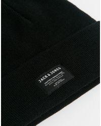Jack & Jones | Black Knit Beanie for Men | Lyst