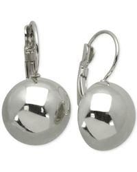 T Tahari | Metallic Dome Euro Drop Earrings | Lyst