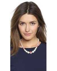 Venessa Arizaga | Te Amo Imitation Pearl Necklace - Red | Lyst