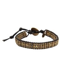 M. Cohen | Metallic Stamped Thai Bracelet for Men | Lyst