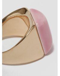 Helena Rohner | Square Porcelain Signet Ring Gold & Azalea Pink | Lyst
