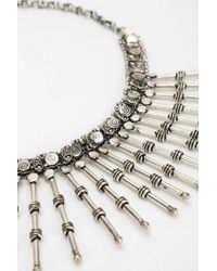 Urban Outfitters | Metallic Barbedspikes Bib Necklace | Lyst