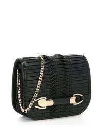 Jimmy Choo - Black Pleated Leather 'Zadie' Small Shoulder Bag - Lyst