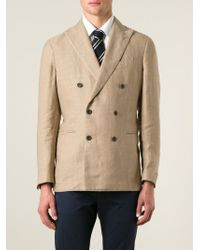 Men's Natural Double Breasted Blazer