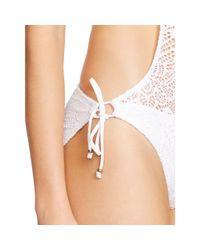 Polo Ralph Lauren | White Crocheted Halter Monokini | Lyst