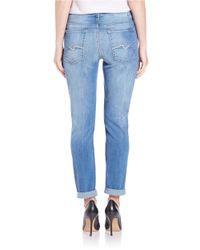 7 For All Mankind | Josefina Boyfriend Jeans - Blue | Lyst