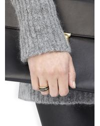 Alexander McQueen - Black Enamel Ring - Lyst