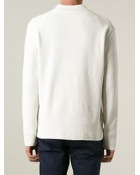 Façonnable | White Textured Knit Blazer for Men | Lyst
