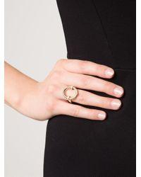 Hoorsenbuhs   Metallic Oval Diamond Ring   Lyst