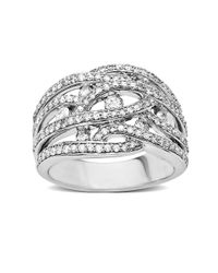 Lord & Taylor - Metallic 14 Kt. White Gold Diamond Ring - Lyst