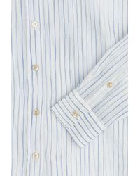 Closed - Blue Striped Cotton Shirt - Lyst