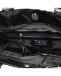af00eba0a1 Armani Jeans 5235 Small Patent Tote in Black - Lyst