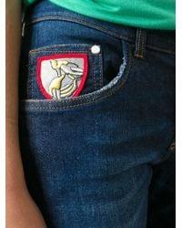 Iceberg - Blue Skinny Cropped Mid-Rise Stretch-Denim Jeans - Lyst