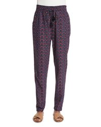 Figue - Multicolor Floral-print Drawstring Pants - Lyst