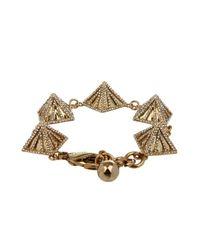 Lulu Frost | Metallic Apex Pyramid-Linked Bracelet | Lyst